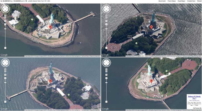Quad Angle Map of the Status of Liberty